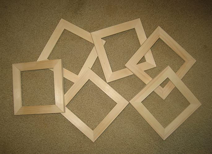 Amazon Unfinished Wood Picture Frames In Lots Of 6 In 1 Wide