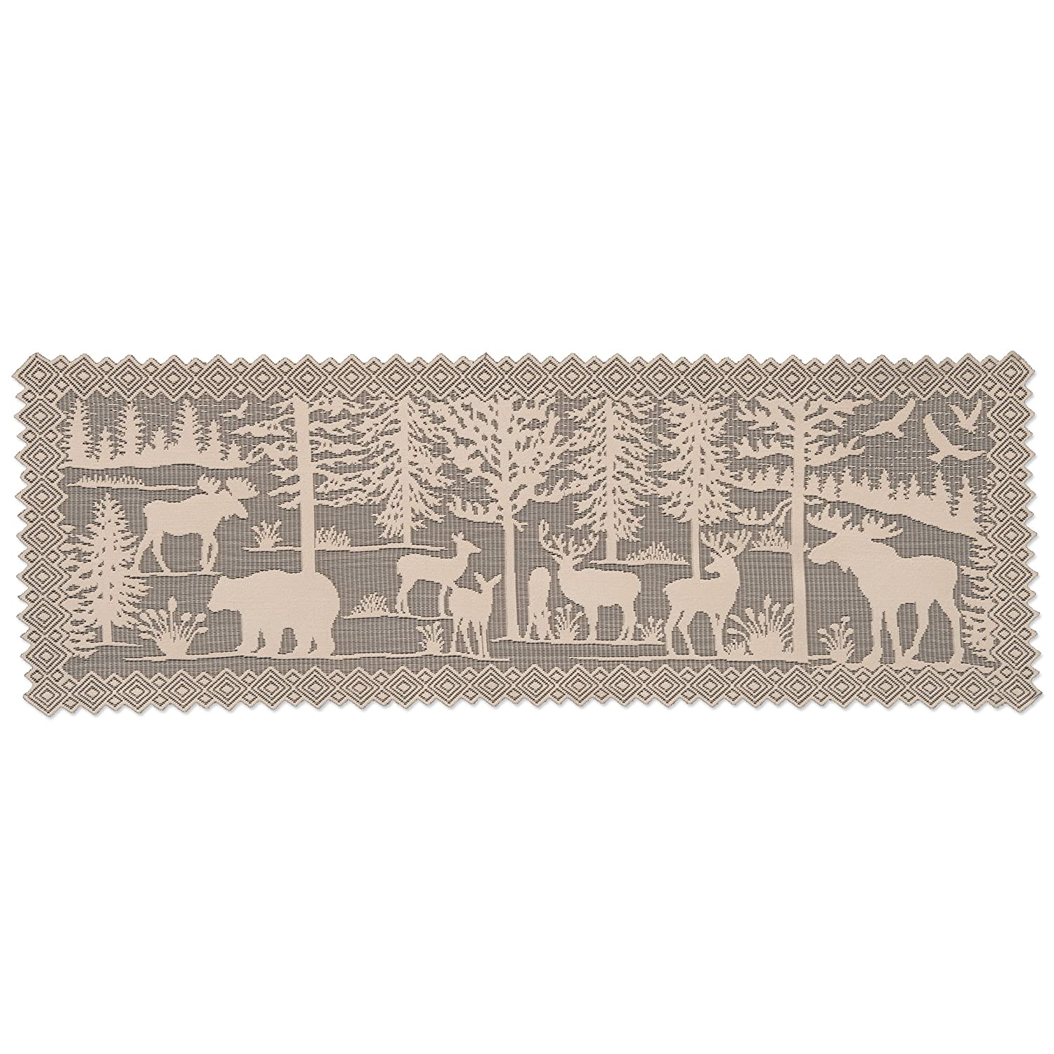 """Heritage Lace Lodge Hollow 14"""" X 40"""" Natural Runner"""