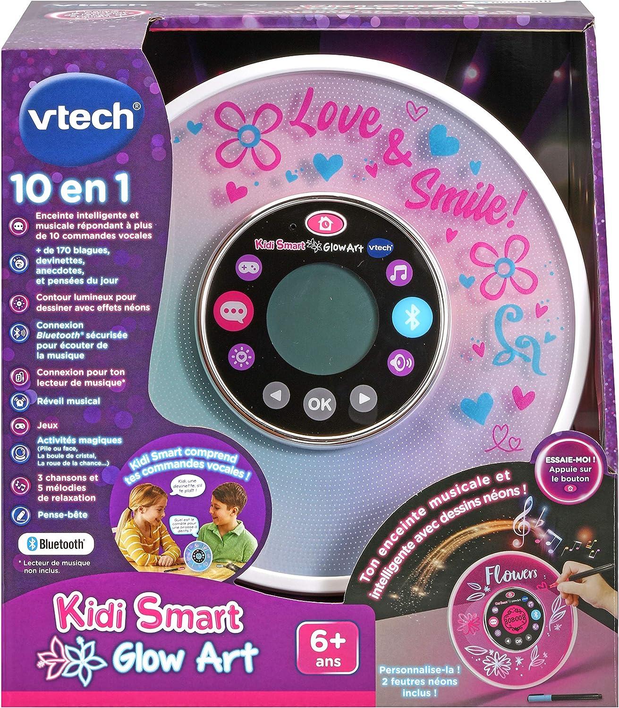 personalisierbar Neon-Effekt franz/ösische Version Vtech Kidi Smart Glow Art Lautsprecher mit Musik