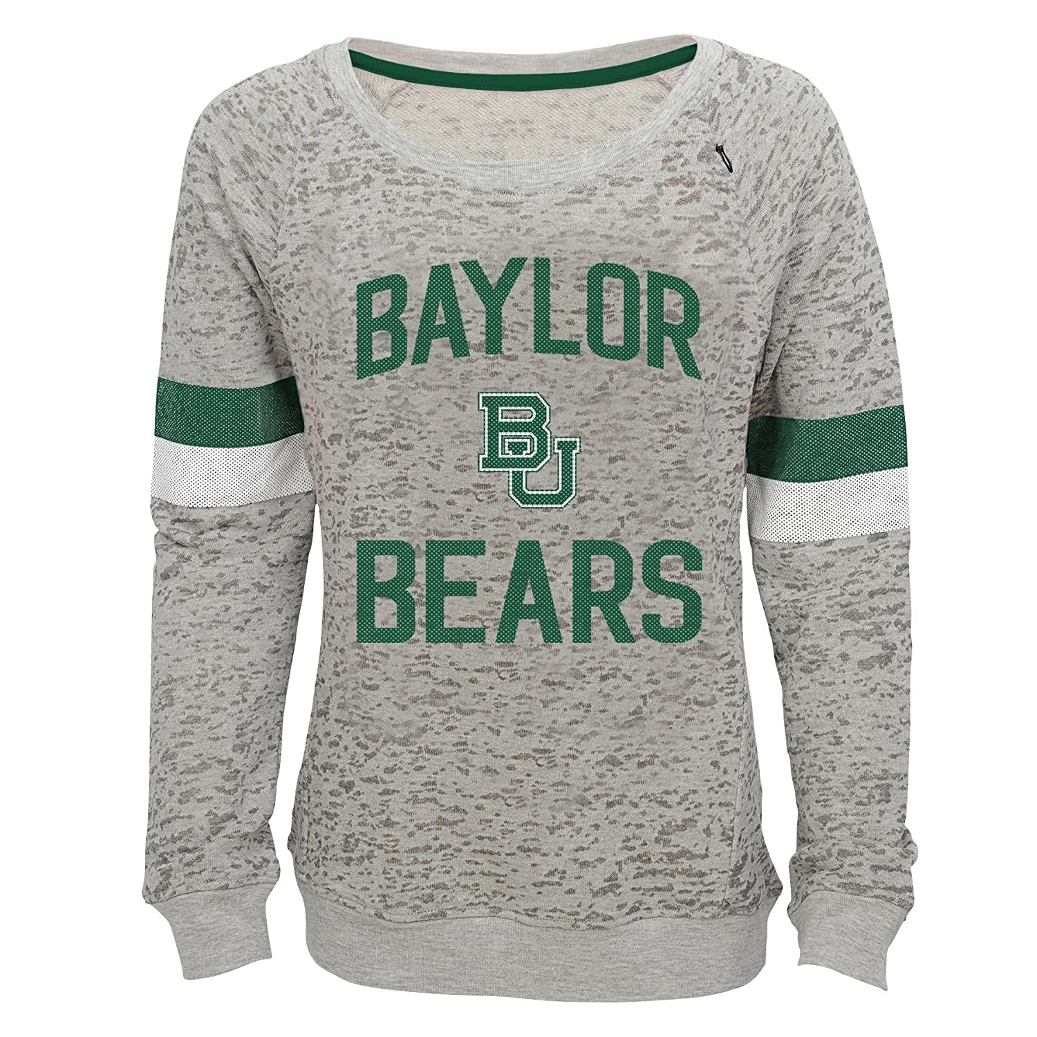 Youth Small 7-8 Heather Grey NCAA by Outerstuff NCAA Baylor Bears Youth Girls My City Boat Neck Pullover