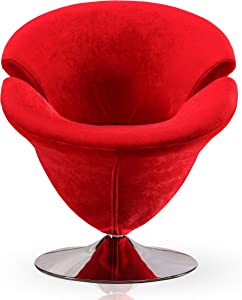 International Design USA Tulip Leisure Chair, Red