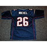 Sony Michel Unsigned Custom New England Blue Sewn New Football Jersey Size S 57036fb3b