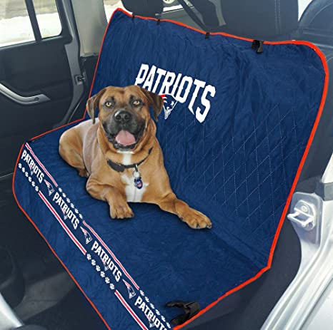 Amazon.com   Pets First NFL CAR SEAT Cover - New England Patriots ... 358b8192c