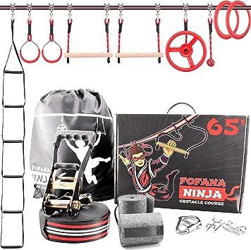 Ninja Warrior Equipo de entrenamiento para niños – 62 pies ...