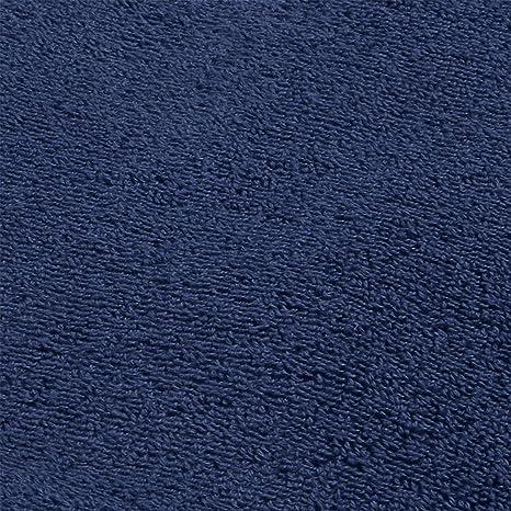 DECOLICIOUS - Juego de 2 Toallas de Ducha 100% Algodón Peinado - 550gr/m2 - Azul - 70x140 cm: Amazon.es: Hogar