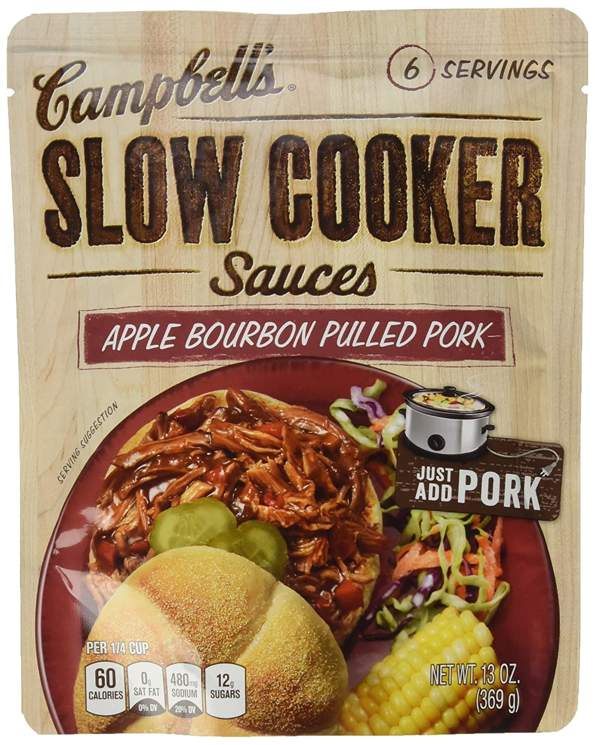 Campbell's Slow Cooker Sauces Apple Bourbon BBQ