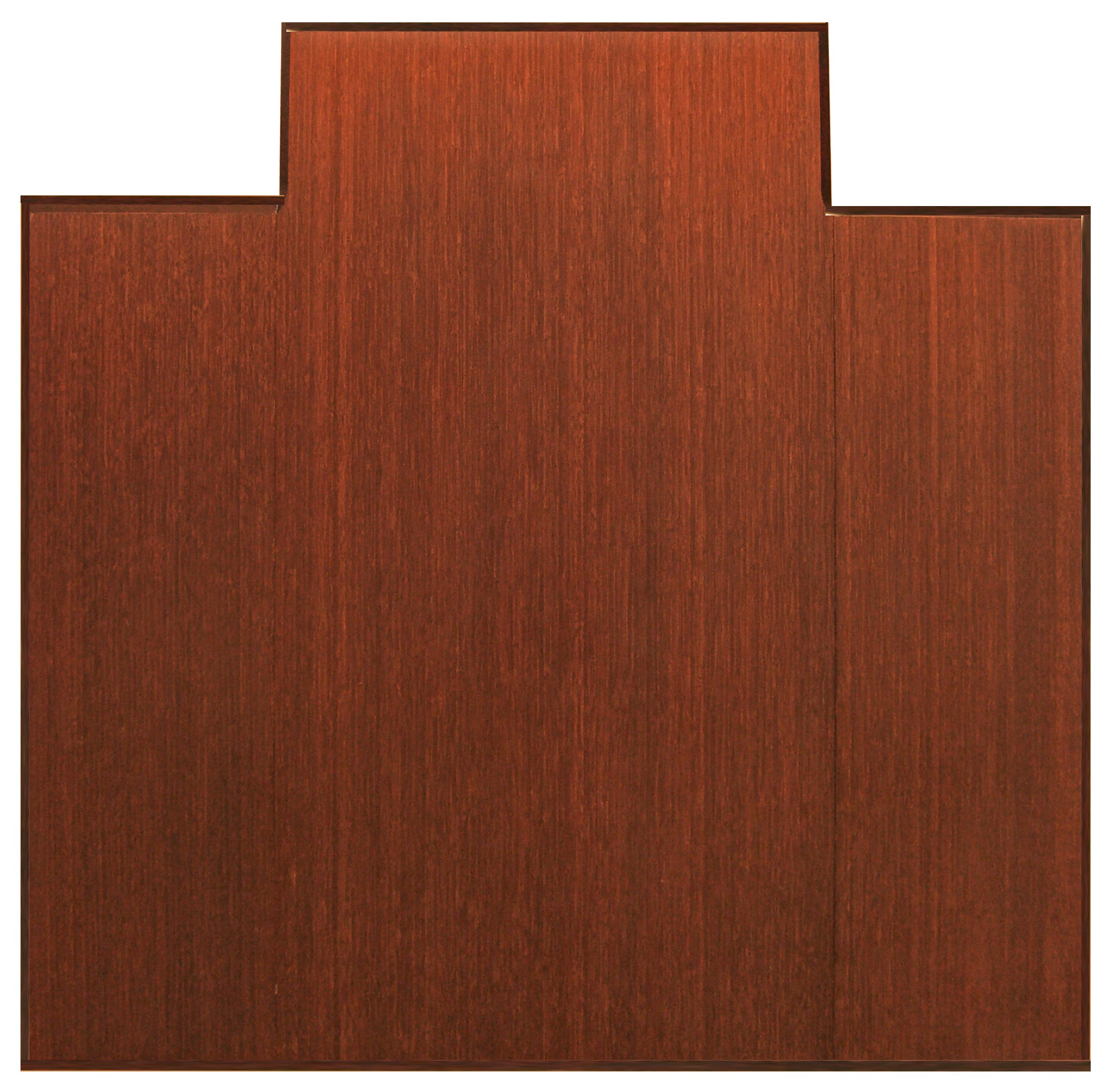 Anji Mountain Bamboo Chairmat & Rug Co. Tri-Fold Bamboo Chairmat, 47-Inch-by-51-Inch, 12mm Thick, With Lip, Dark Cherry