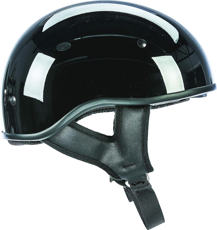 Large Gloss Black Fly Racing .357 Half Adult Harley Cruiser Motorcycle Helmet