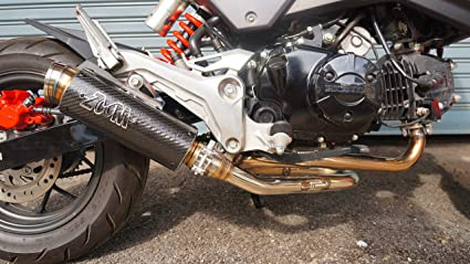 ZoOM Exhaust Honda Grom 125 MSX 125 2017-2019 Full System Carbon Fiber  2Slaz Low Mount 2017