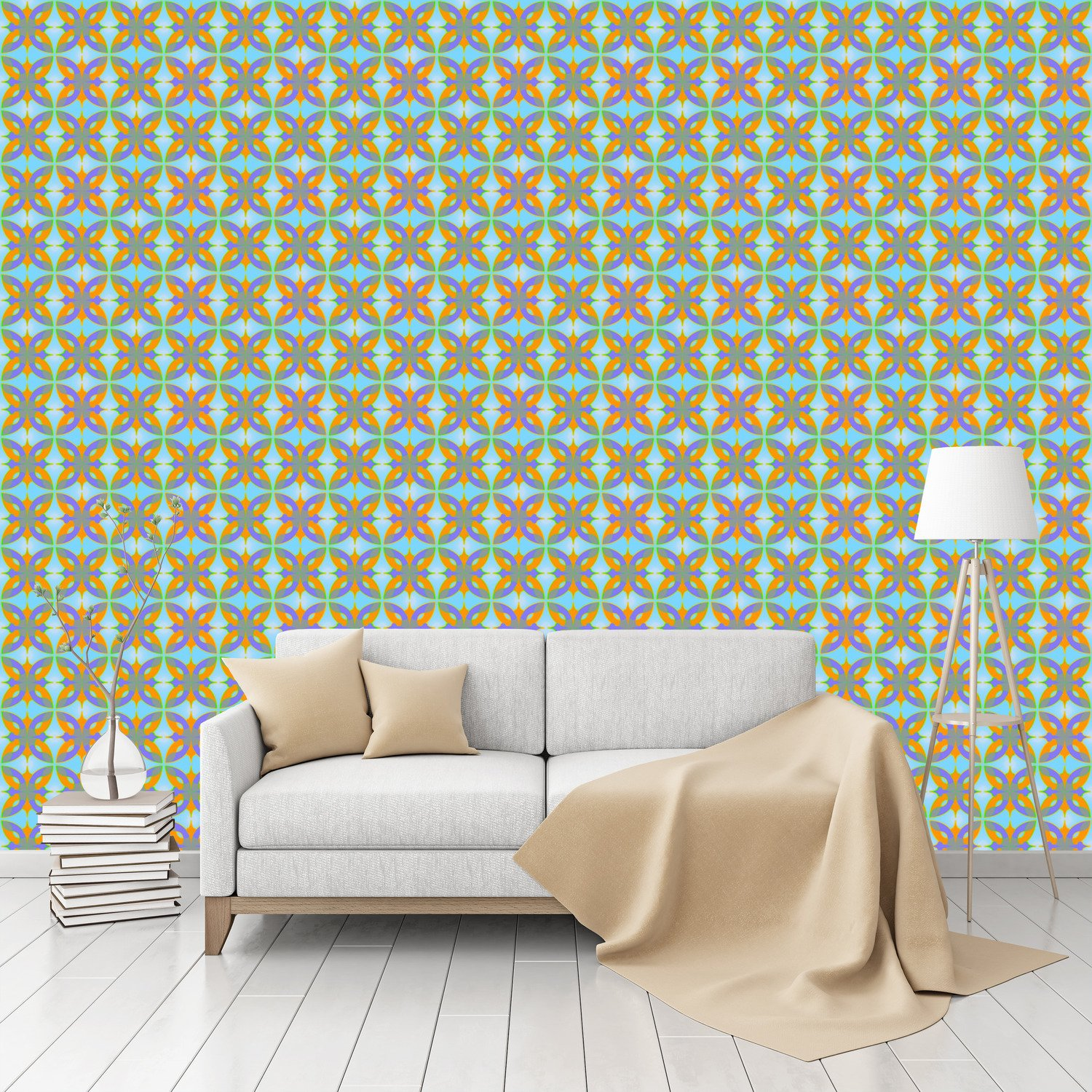Amazon Dschingis Khan Patterned Peel Stick Textured壁紙by