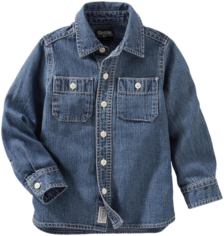 OshKosh BGosh Boys Woven Buttonfront 21502010 Denim 2T OshKosh BGosh 21502010-Denim-2T