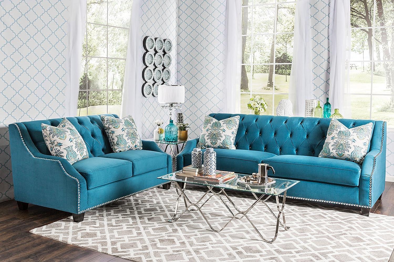 Amazon.com: Furniture of America 2 Piece Schaffner Contemporary ...