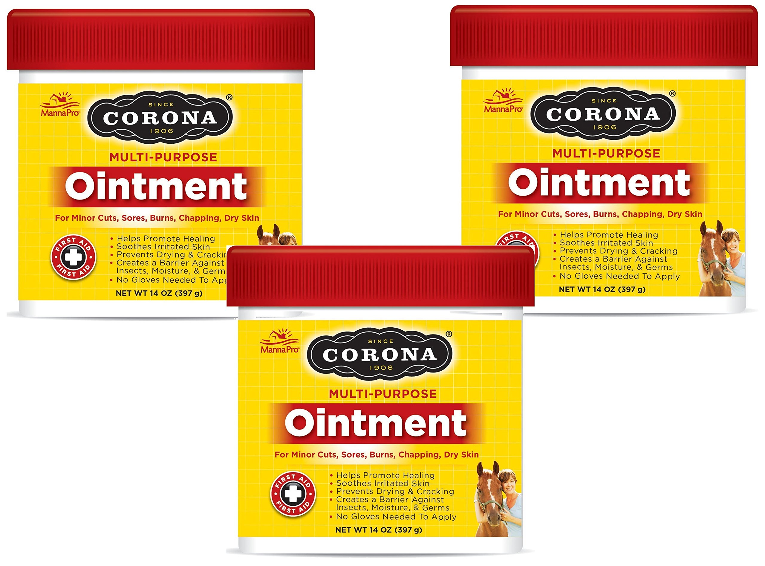 Corona Ointment 14 Oz., Jar (Pack of 3) by Manna Pro