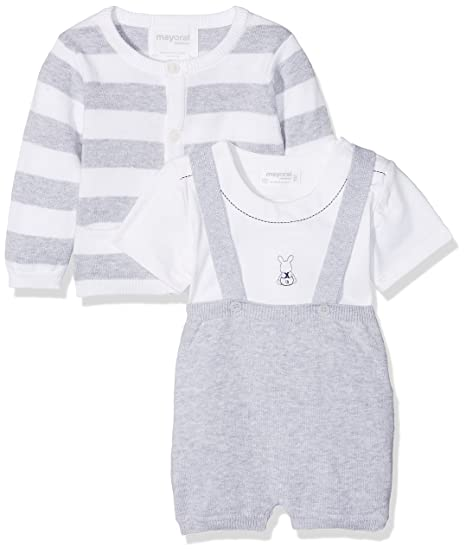 ce0626d84 Mayoral Baby Boys' 1204 Clothing Set, Grey (Perla Vig 24), One