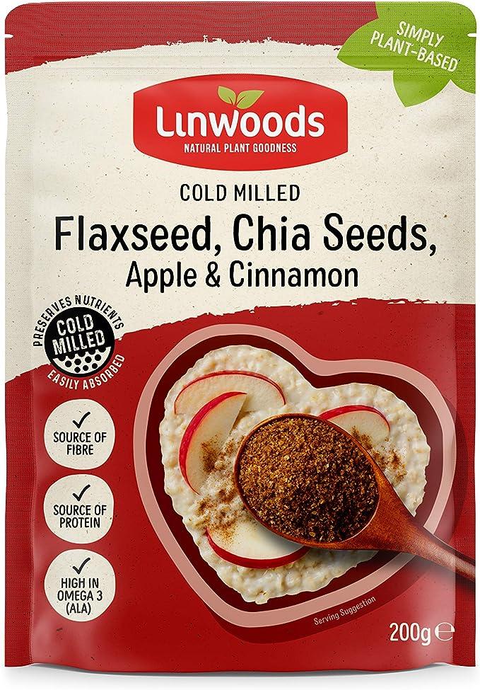 Linwoods | Flax,Chia,Apple & Cinnamon | 1 x 200g: Amazon.es: Salud y cuidado personal