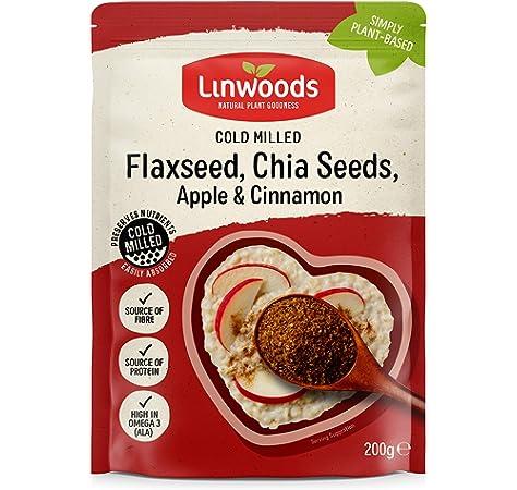 Linwoods Semillas De Lino Eco Con Chia Manzana Y Canela Mol Envase De 200 Gramos 200 ml: Amazon.es: Salud y cuidado personal