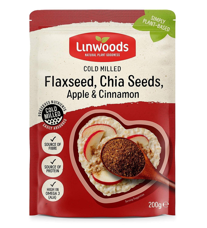 Linwoods Milled Flaxseed,Chia,Apple & Cinnamon 200g