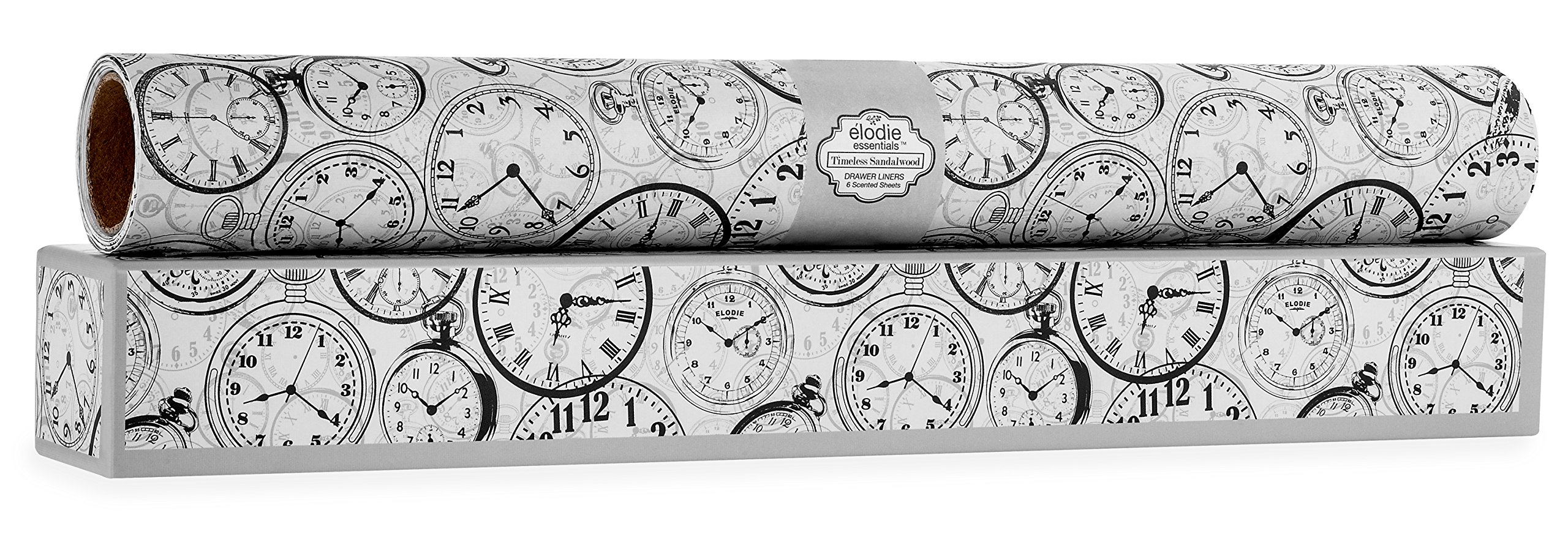 Timeless Sandalwood Scented Drawer Liners - Pocket-Watch Vintage Charm by Elodie Essentials