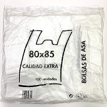 Envio 24h Bolsas Blancas Camiseta 80cmx85cm Extra Calidad Doble Fuerte 100unidades