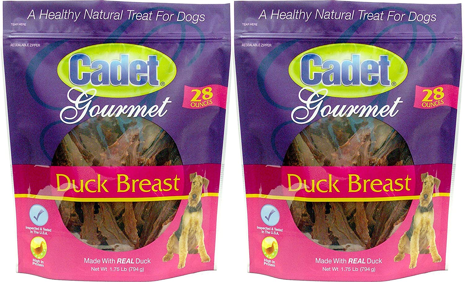 (2 Pack) Duck Breast Dog Treats, 28 Ounce