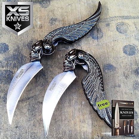Amazon.com: SURVIVAL STEEL - Cuchillo de cuchilla de acero ...