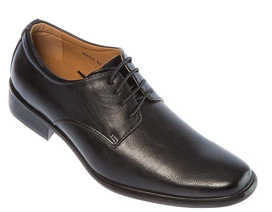Mens loafers-shoes Lace Up Derby Plain Toe Dress Shoes