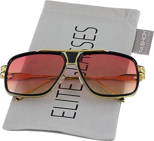 Men/'s Designer Polarized Aviator Sunglasses Alloy Retro Frame Oversized Square