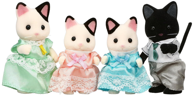 Amazon.es: Sylvanian Families dolls charcoal cat family FS-05 (japan import): Juguetes y juegos