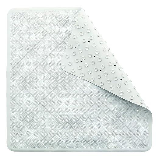 Blanca con ventosas 34cm x 74cm TowelsRus antif/úngica no de Goma Antideslizante Alfombra de ba/ño