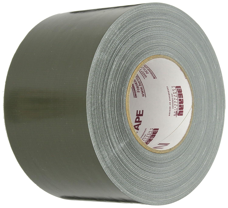"Nashua 357 Polyethylene Coated Cloth Premium Duct Tape, 60 yds Length x 4"" Width, Olive Drab"