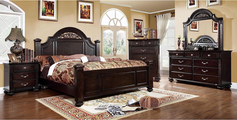 247SHOPATHOME bedroom-furniture-sets, California King, Walnut