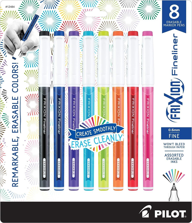 11452 PILOT FriXion Fineliner Erasable Marker Pens 12-Pack Fine Point 2 Pack Assorted Color Inks