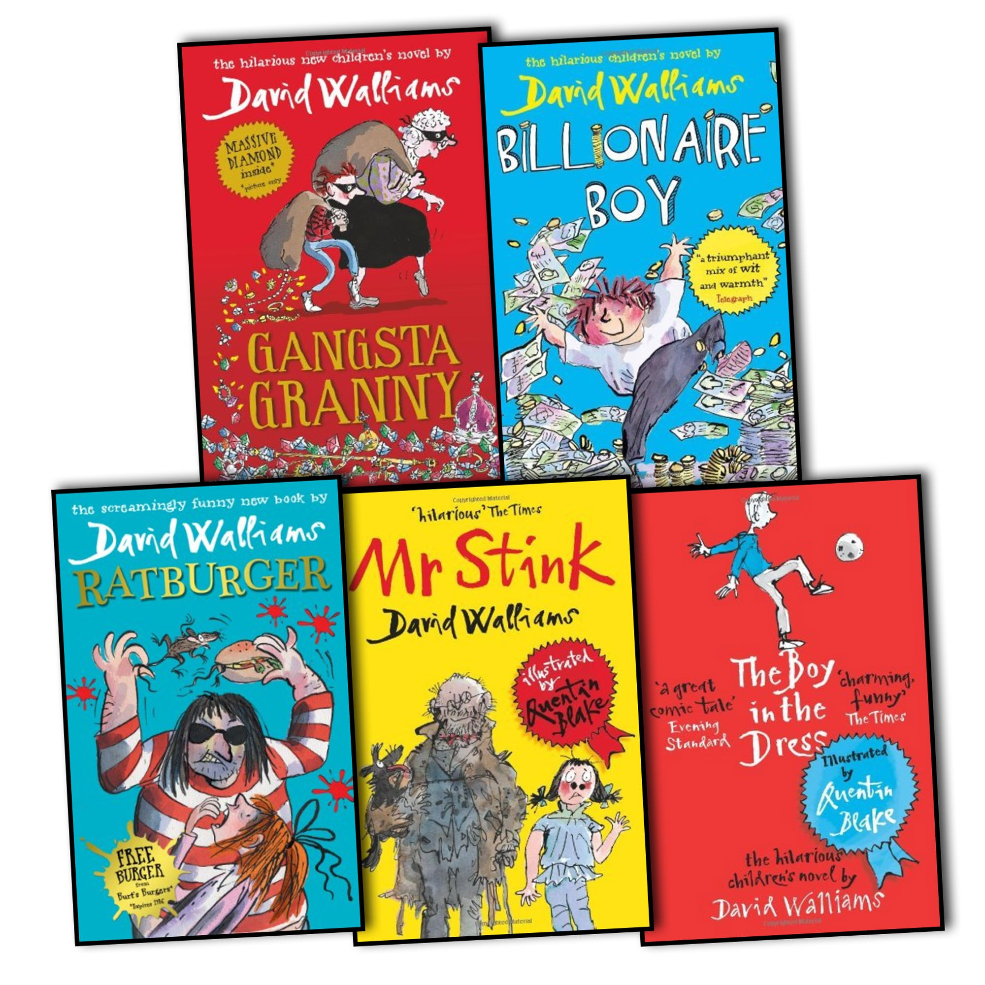 David Walliams Collection 5 Books Set: Amazon.co.uk: David ...