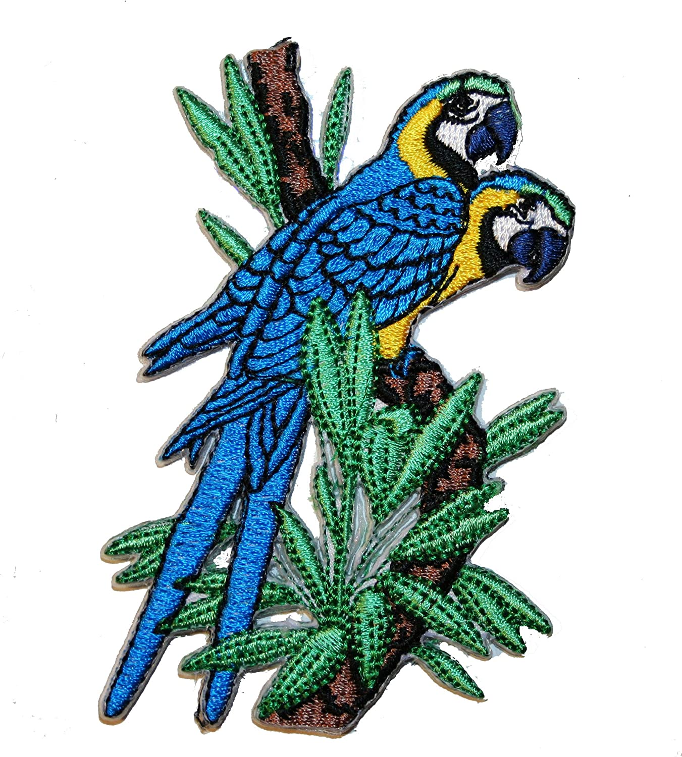 PARROT MACAW  Iron On Patch Birds Tropical