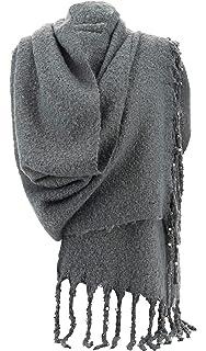 Charleselie94® - Grosse écharpe femme hiver laine perles gris VIENNE GRIS 2feb2fb18ef