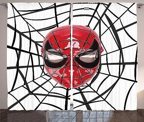 Supereroe tende a pannello set by ambesonne hero maschera con