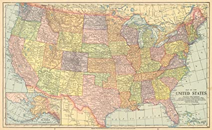 Amazon.com: Historic Map | 1902 Map of the United States | The ...