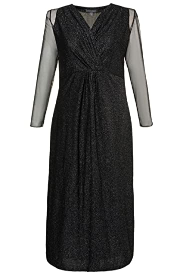 913f8c444 Ulla Popken Women's Plus Size Metallic Stretch Knit Maxi Dress 718906 at  Amazon Women's Clothing store: