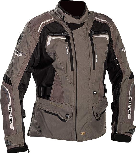 Richa Motorradjacke Mit Protektoren Motorrad Jacke Infinity 2 Textiljacke Herren Tourer Ganzjährig Bekleidung