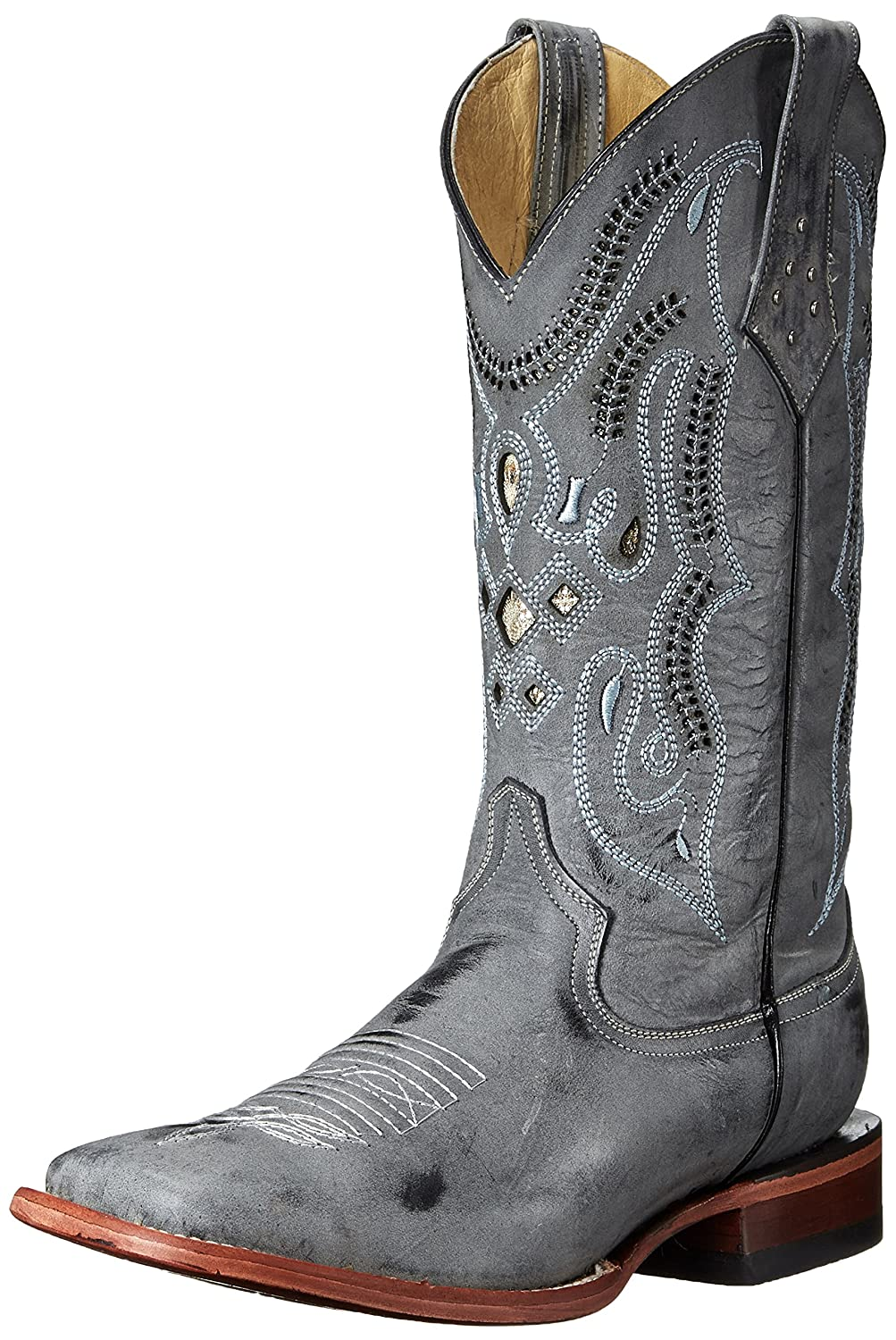 Ferrini Men's Cowhide G Western Boot, Grey, 8 D US: Buy Online at Low  Prices in India - Amazon.in
