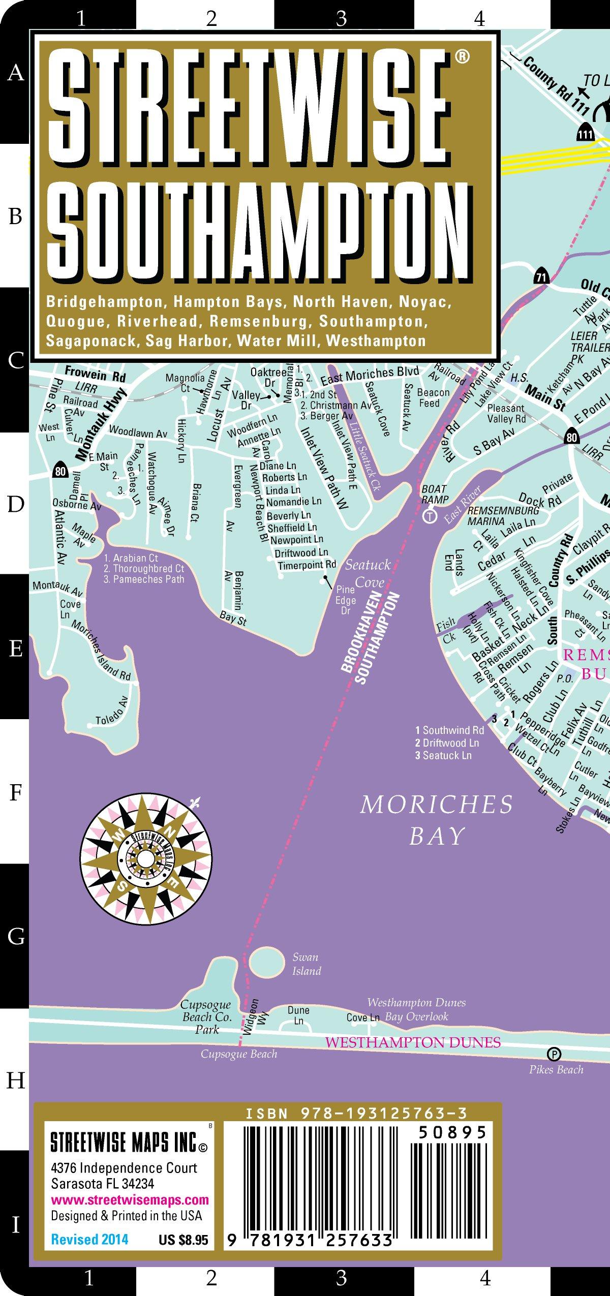 Streetwise Southampton Map Laminated City Street Map Of Southampton New York The Hamptons Streetwise Maps Inc 9781931257633 Amazon Com Books
