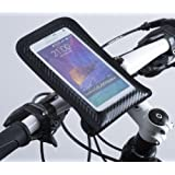 Manta IPX6 Waterproof Bike Mount Phone Holder for iPhone 7/6S/6 and Samsung Galaxy S7/S6 Edge With 2 Year Warranty, Patented Secure Mounting System, No Tool Handlebar/Stem Installation, Take Photos and Videos of Your Ride Through Window
