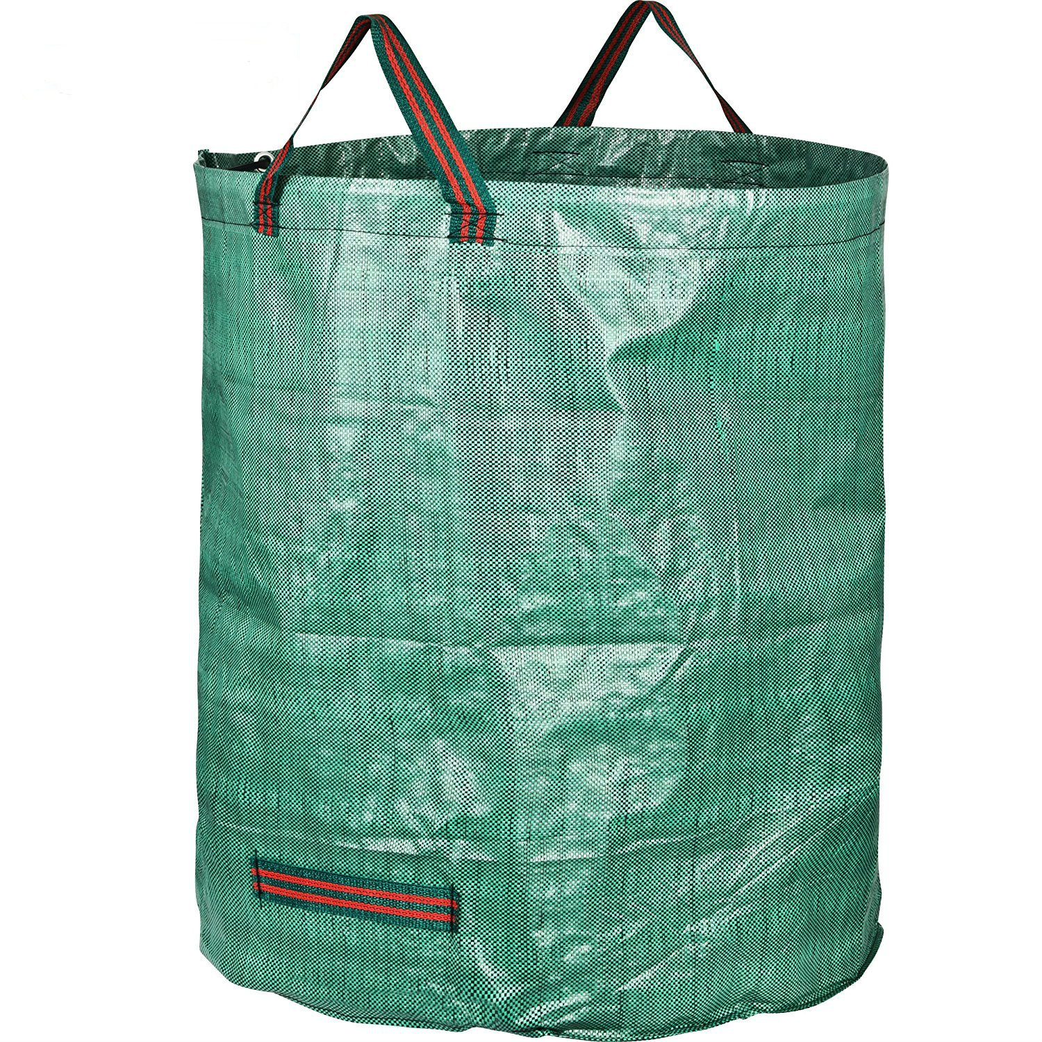 Garden Mile® 272L Large Reusable Green Garden Waste Refuse Sack Bags With Handles Shower Proof Tear Resistant Grass Bag Compost Autumn Leaves Collector Home Recycling Bag (3)