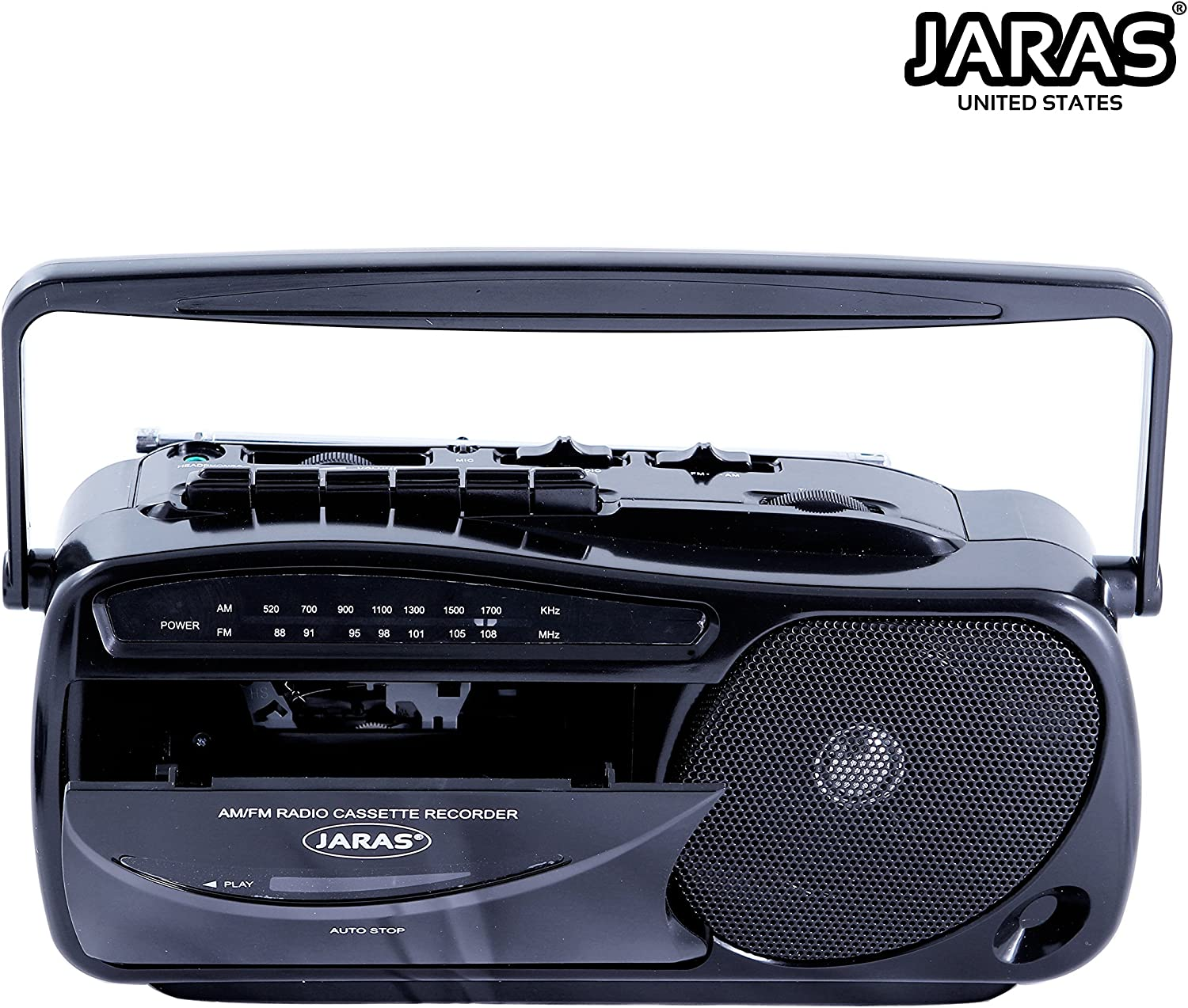 B00YHY1GGC Jaras JJ-2618 Limited Edition Portable Boombox Tape Cassette Player/Recorder with AM/FM Radio Stereo Speakers & Headphone Jack 91WtheD242L