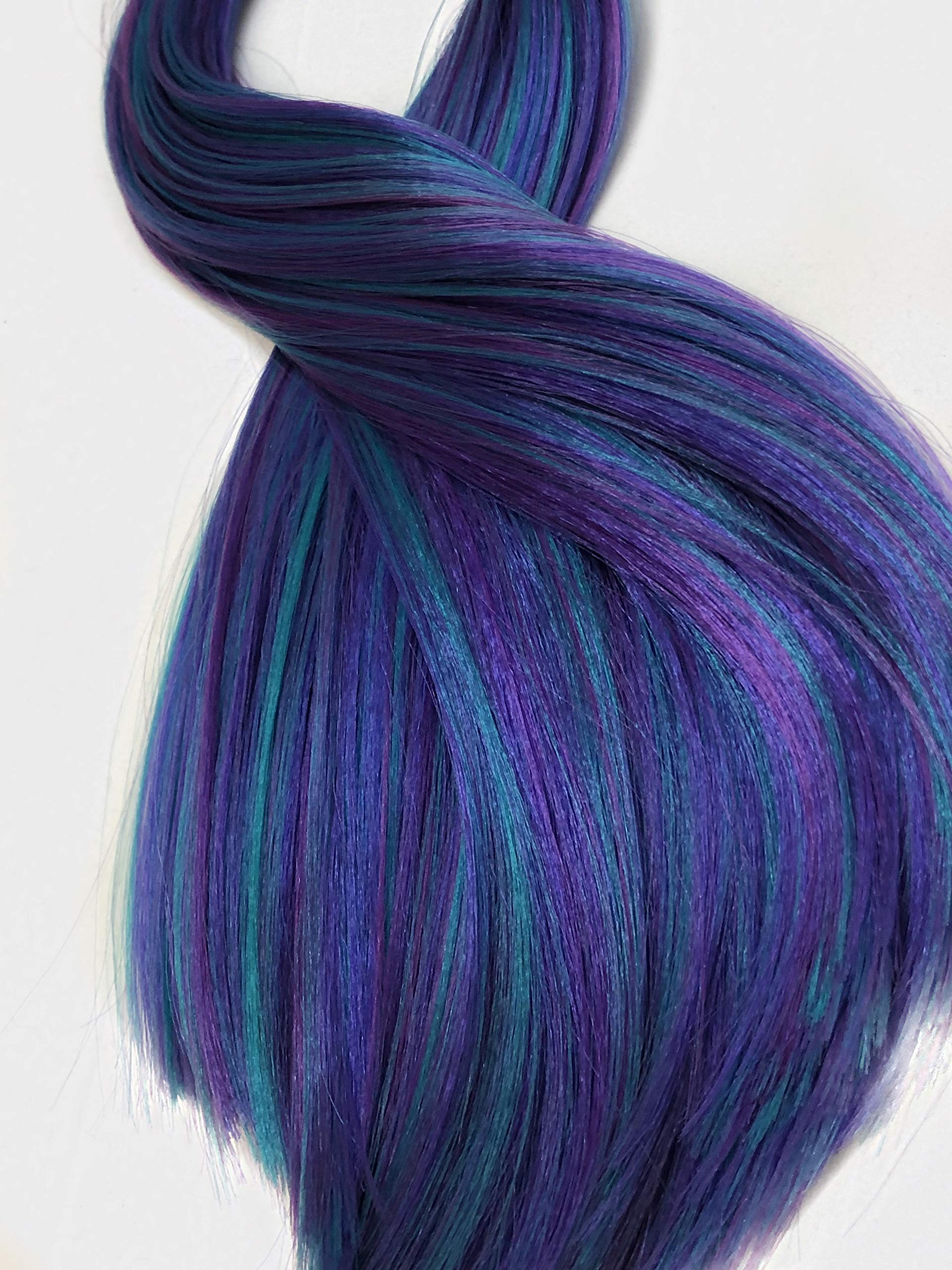 Deluxe Nylon Doll Hair Blends for Rerooting Dolls 18 Length Professional Doll Grade Quality Rehair Doll Wigs Oregon Berry DIY 20 Grams