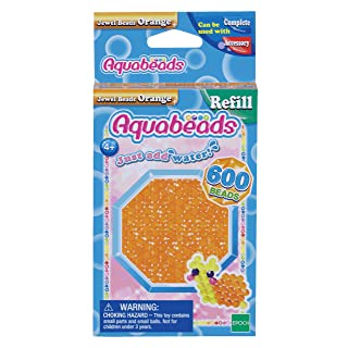 Aquabeads Jewel Bead Refill Pack, Orange