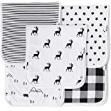 Baby Burp Cloths for Boys and Girls 5 Pack,...