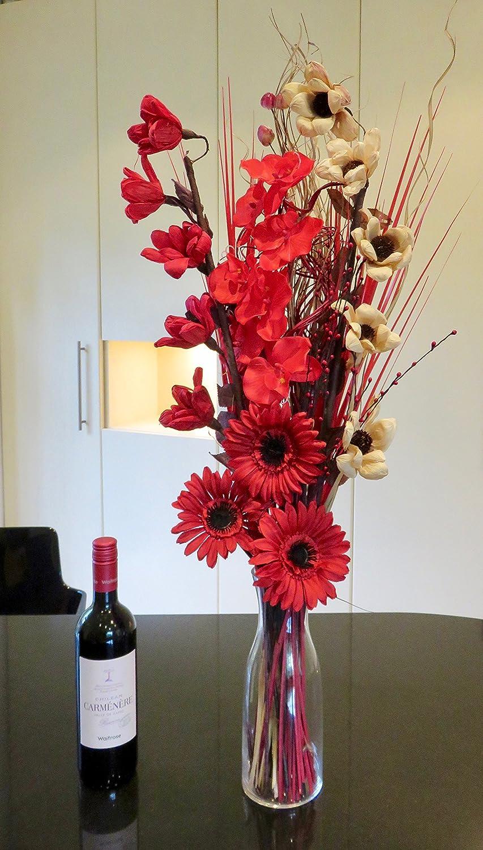 Noir//blanc 85 cm Lien produits s/éch/ées /& fleurs artificielles Bouquets 85/cm pr/êt pour un vase
