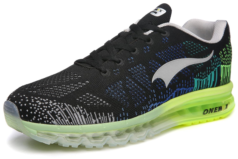 ONEMIX Womens Air Cushion Outdoor Sport Running Shoes Lightweight Casual Sneakers B078WLRF3S Men 8(M)US 41EU/Women 9.5(M)US 41EUR Black/Grey