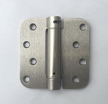 pack of 2 satin nickel 4 x 4 with 58 radius spring